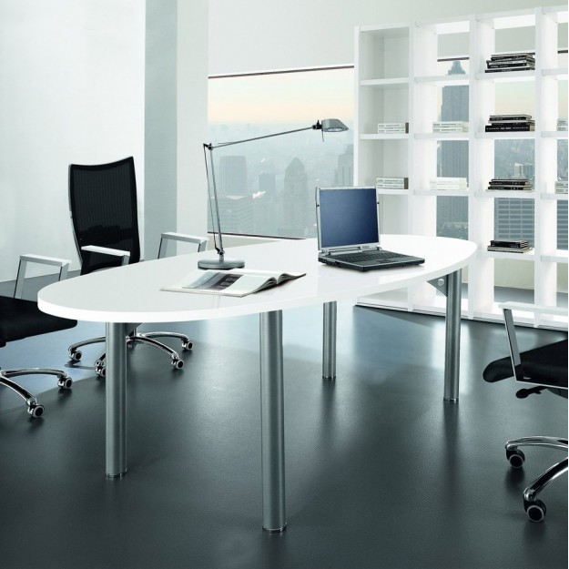 Table/bureau ovale 8 places Arlington