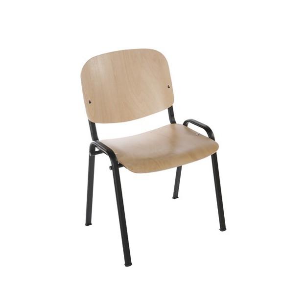 Chaise d'accueil en bois empilable Malmo
