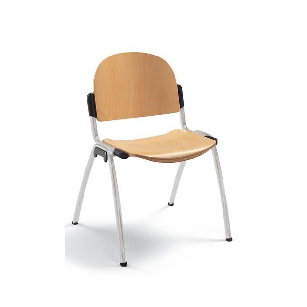 Chaise d'accueil en bois empilable Crakova