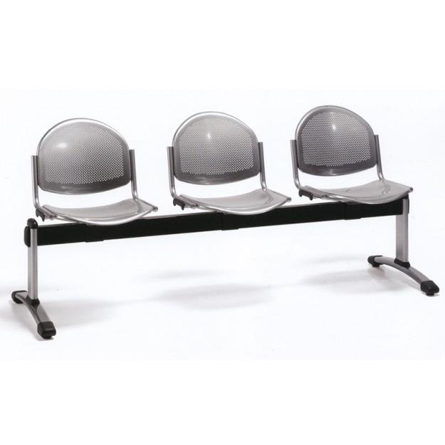 Chaise sur poutre en métal Constantine-P 2-5 places STEEL-P
