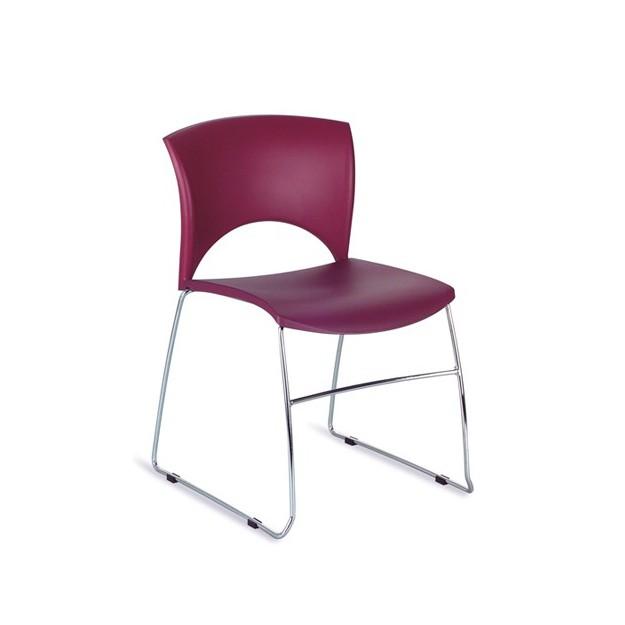 Chaise d'accueil fil acier empilable Vienne