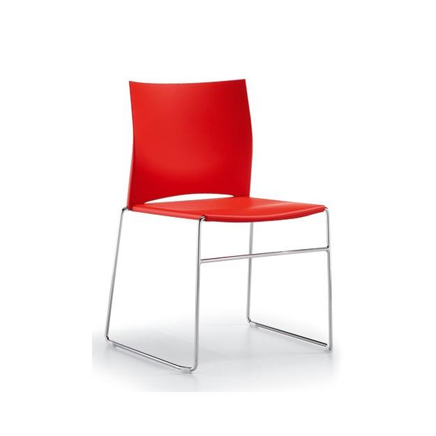Chaise d'accueil empilable et design Dijon