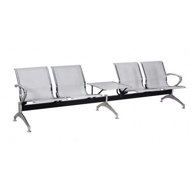 Chaise coque sur poutre KINSHA-P 2 à 5 places