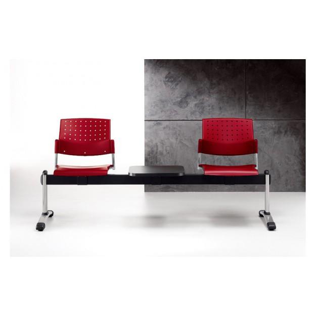 Chaise sur poutre polypro Verone-P 2 à 5 places