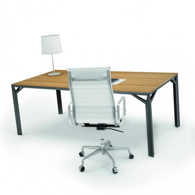Bureau droit 180cm-220cm en aluminium Eight Modele 80