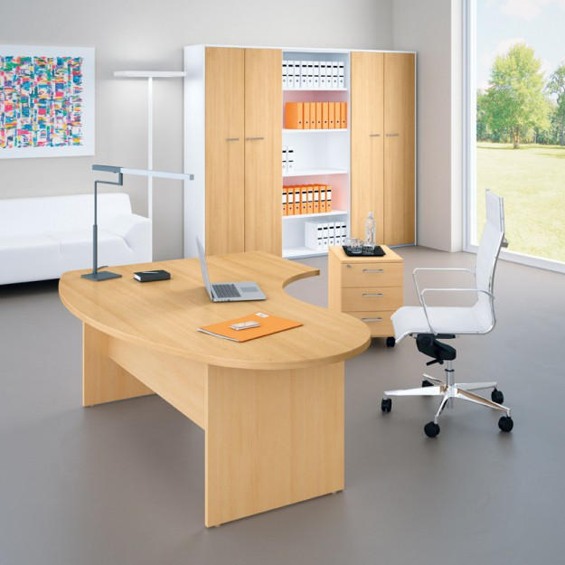 Bureau ergonomique avec retour Riverside IDEA-P25
