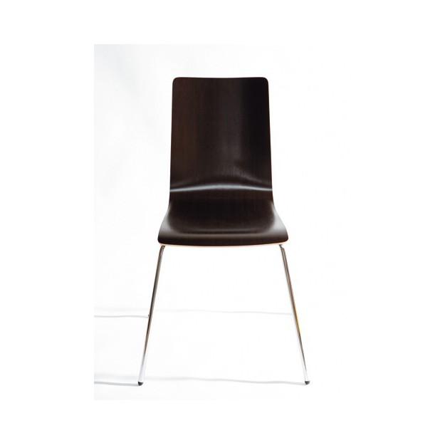 Chaise d'accueil en bois wenge ou hêtre Derby