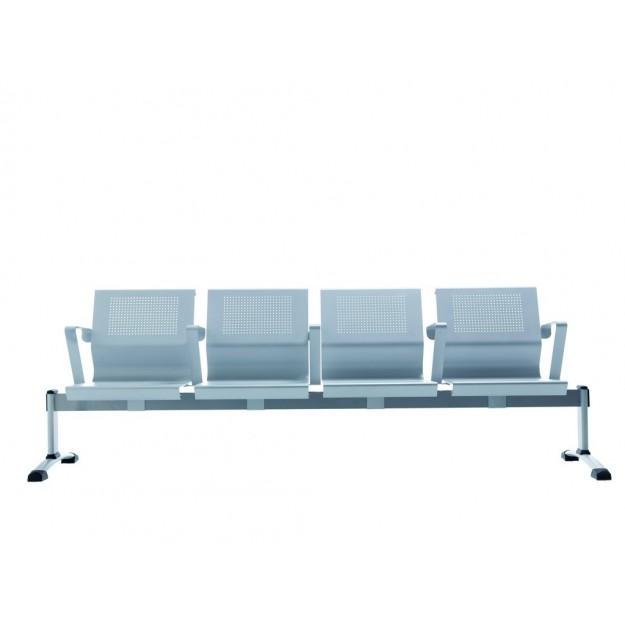 Chaise sur poutre design métal Cluny-M 2 à 4 places