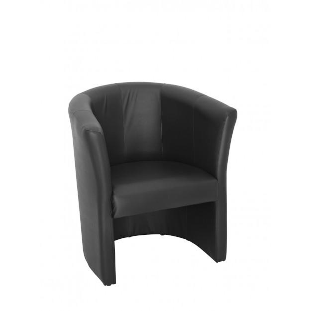 Chauffeuse imitation cuir noir Saumur